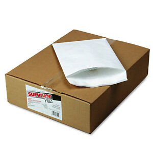 Survivor Dupont Tyvek Air Bubble Mailer Self Seal 9 X 12 White 25 box R7525