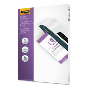 Fellowes Laminating Pouches 3mil 9 X 14 1 2 50 pack 52226