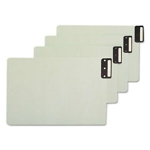 Smead End Tab Guides Blank Vertical Metal Tabs Pressboard Legal 50 box 63235