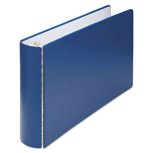 Wilson Jones Casebound Round Ring Binder 2 Cap 11 X 17 Blue 34690nb