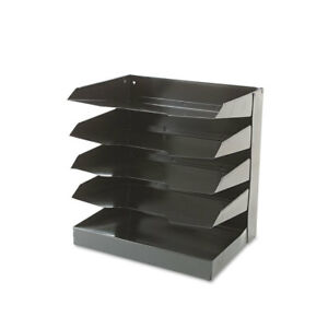 Nib Nish Desktop Organizer 5 Shelf 12 wx8 1 2 dx12 1 2 h Black 4570723
