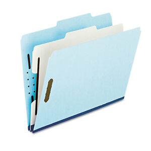 Pendaflex Four And Six section Classification Folders Letter 2 5 Tab Blue 10