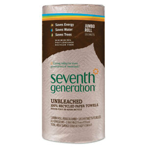 Seventh Generation Natural Unbleached 100 Recycled Paper Towel Rolls 11 X 9 120