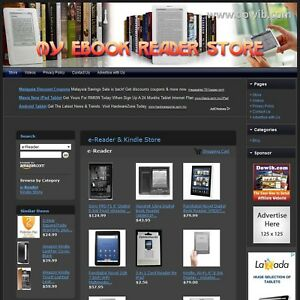 E reader Kindle Store Turnkey Online Money Maker With 24 7 Unlimited Support
