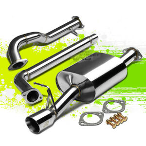 J2 3 rolled Tip Muffler Performance Catback Exhaust For 06 10 Vw New Beetle 2 5