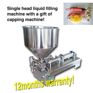 Chocolate Honey Cream Hot Juice Sauce Jam Jar Filler Paste Filling Machine 300ml