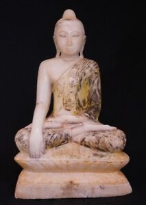 18th Century Marble Alabaster Buddha Statue From Burma Antique Buddha Statues