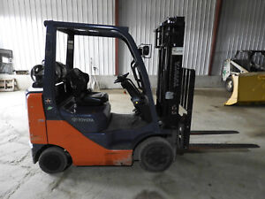 2007 Toyota 8fgu25 Lp Forklift Only 454 Hrs Very Nice Low Low Hrs
