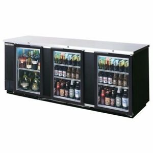 Refrigerated Back Bar Storage Cabinet cooler 3 Glass Doors