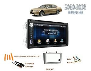 For 2000 2003 Nissan Maxima Car Stereo Double Din Kit Bluetooth Touchscreen Dvd