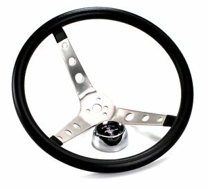 Mustang Steering Wheel Grant Black Foam 1965 66 67 68 69 70 71 72 73