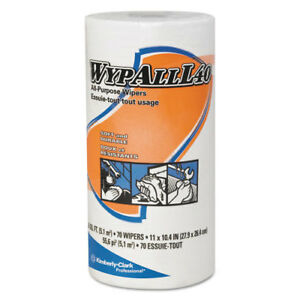 Wypall L40 Cloth like Wipes 10 2 5 X 11 White 70 roll 24 Rolls carton 05027