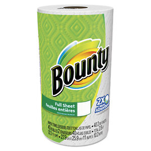 Bounty Perforated Towel Rolls 2 ply White 11 X 10 1 5 40 Sheets roll 30 Rl ctn