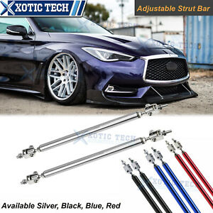 Adjustable 8 11 Front Bumper Lip Splitter Rod Strut Tie Bars For Infiniti