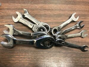 Blue Point 8pc Stubby Combo Ratchet Wrenches 12pts Boers free Shipping