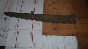 Antique Vintage Saw Rusty Cross Cut Saw Long Tall Large Rust Patina Metal