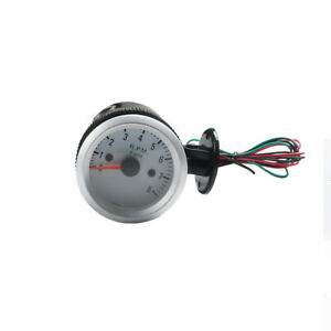 2inch 52mm Universal 0 8000rpm Blue Led Car Tachometer Tacho Gauge Meter Fine