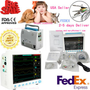 Icu Ccu Multi Parameter Patient Monitor Spo2 Pr Ecg Nibp Resp Temp Veterinary