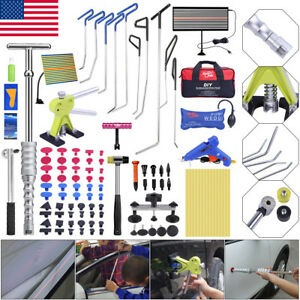 110 Us Paintless Dent Repair Pdr Tools Push Rods Hail Puller Lifter Hammer Tail