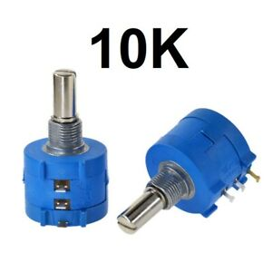 10k Ohm Rotary Potentiometer Pot 10 Turn Variable Dial Resistor