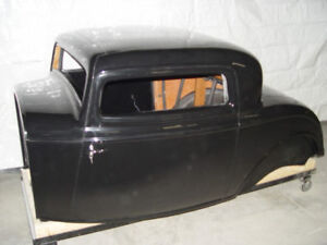 1932 Ford 3 Window Coupe Fiberglass Body 32 3w Duece