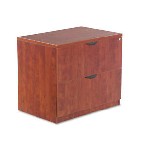 Alera Valencia Series Two Drawer Lateral File 34w X 22 3 4d X 29 1 2h Cherry