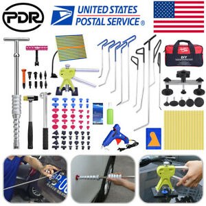 Us Full Set Pdr Tools Paintless Dent Repair Push Rods Hail Puller Lifter Hammer