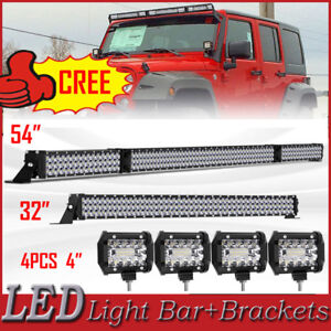 Curved 52 Inch 1200w Led Light Bar Combo Driving Lamp For Ford Dodge 50 54 7d