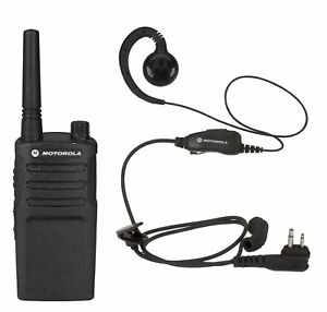 Motorola Rmm2050 Vhf Two way Radio With Hkln4604 Headset