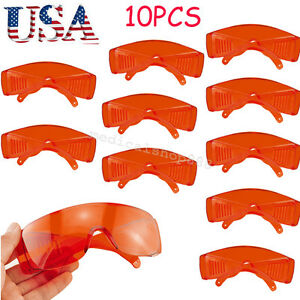 10pcs Usa Dental Clinic Safety Goggle Glasses Protective Eye Uv Curing Whitening
