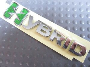 Oem Gmc Gm Hybrid X Chrome Green Emblem Badge Trunk Logo 25798870