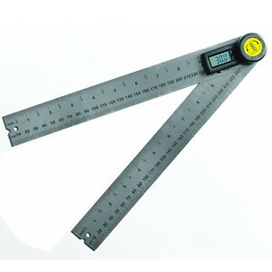 Digital Angle Finder 10in Ruler Lcd Display Measuring Layout Protractor Tool New
