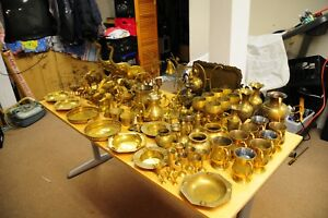 Huge Collection Of Solid Brass Animal Figurines Collectables