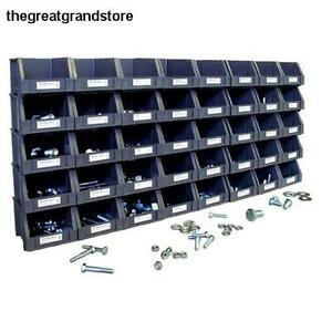 Nut Bolt Assortment Stackable Storage Bins Open Organizer Metric Coverage Shop