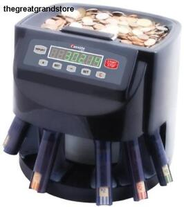 Commercial Money Coin Counter Sorter Electronic Digital Machine Change Box Paper