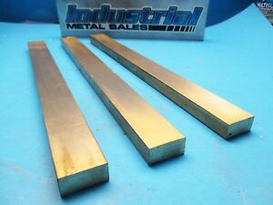 1 2 X 1 X 12 long 360 Brass Flat Bar 500 X 1 0 3 Pack Mill Stock