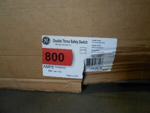 Ge Tc35367r Double Throw Transfer Switch 800 Amp 3 P 600 V new In Box