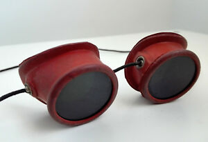 Vintage Rubber Goggles Interwar Welding Torch Metal Melting Steampunkers Cosplay