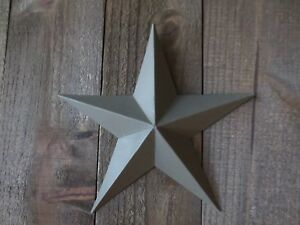 Lot Of 2 Country Primitive 10 Green Barn Stars Rustic Wall Decor Dimensional