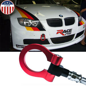 Jdm Sporty Red Cnc Track Racing Aluminum Tow Hook For 1996 2013 Bmw 3 Series