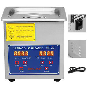 Stainless Steel 1 3l Liter Industry Heated Ultrasonic Cleaner Heater W timer New