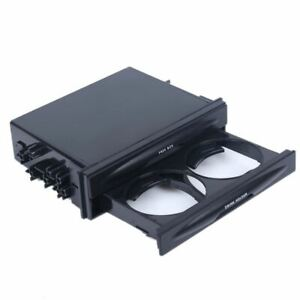 Universal Single 1 Din Storage Tray Box Cup Drink Holders Cover Plate Pocket