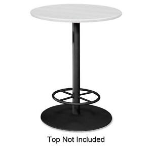 Hon Standing Table Base W Footring F round Tops 28 x41 Black Bcr28frp