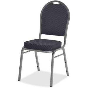 Lorell Upholstered Stack Chairs 16 x16 x37 5 8 4 ct Blue 62518