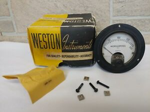 Vintage Weston Instruments Panel Meter 0 200 Dc Microamperes Model 301