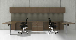 14pc L Shape Modern Executive Office Desk Set ch ver l6