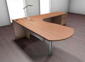 3pc L Shape Modern Executive Office Desk Set ch ver l1