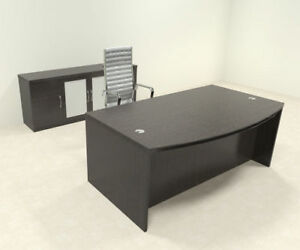 3pc Modern Contemporary Executive Office Desk Set ro abd d9