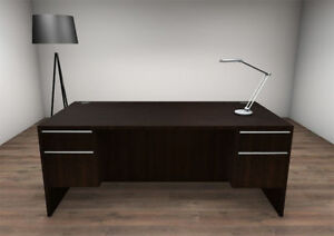3pc Rectangular Modern Executive Office Desk Set ch ver d12