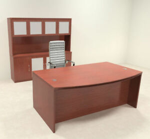 4pc Modern Contemporary Executive Office Desk Set ro abd d11